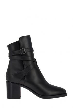 Кожаные ботинки Karistrap 70 Christian Louboutin. Цвет: черный