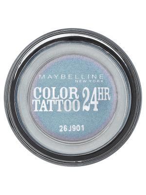 Тени для век Color Tattoo 24 часа, оттенок 87, Загадочный сиреневый, 4 мл Maybelline New York. Цвет: голубой, сиреневый