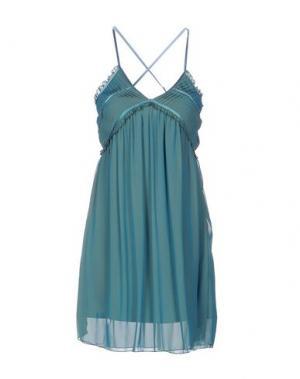 Короткое платье M!A F. Цвет: бирюзовый
