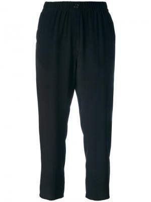 Укороченные брюки Forte. Цвет: чёрный