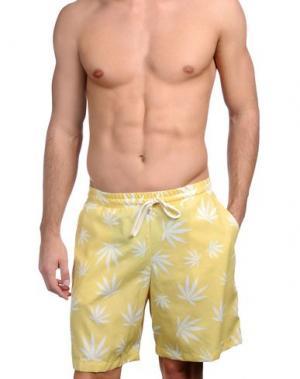 Пляжные брюки и шорты S_D SIDE. Цвет: желтый