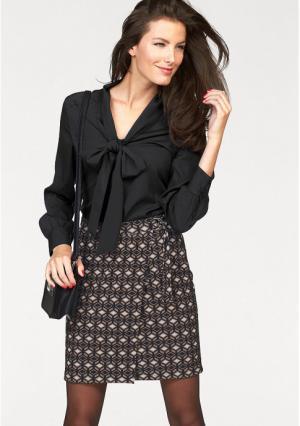 Блузка VIVANCE. Цвет: черный