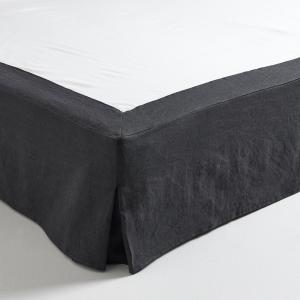 Чехол для кровати из пеньки/хлопка, Linéo AM.PM.. Цвет: серо-бежевый,темно-серый,экрю