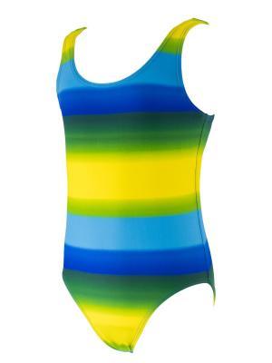 Купальник KICKERS. Цвет: зеленый, голубой, желтый