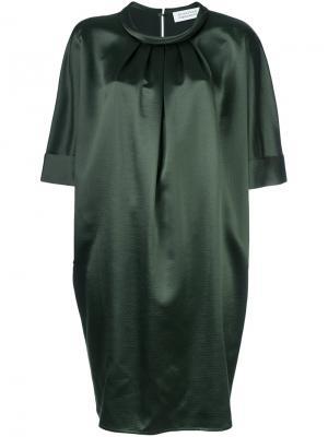 Платье шифт со складками Gianluca Capannolo. Цвет: зелёный