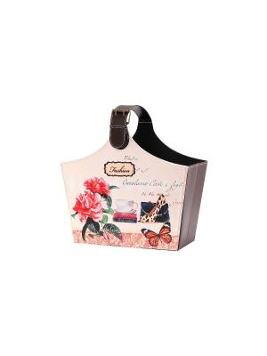 Газетница складная Мода EL CASA. Цвет: коричневый, розовый, зеленый