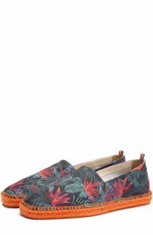 Текстильные эспадрильи с цветочным принтом Castaner. Цвет: разноцветный