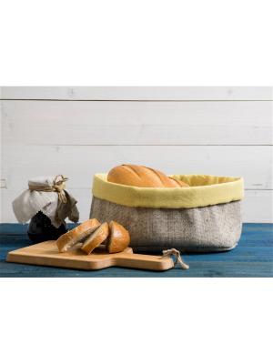 Хлебница, Прованс, желтый, , 20х30х12 Helgi Home. Цвет: серый, желтый