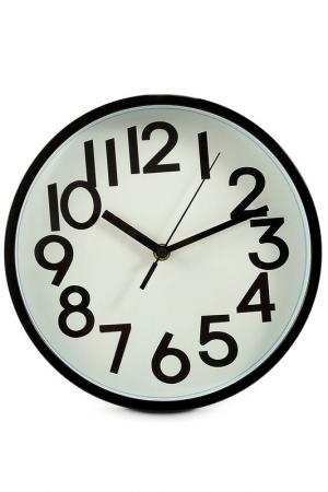 Часы настенные 25х25х4 см Русские подарки. Цвет: белый, черный