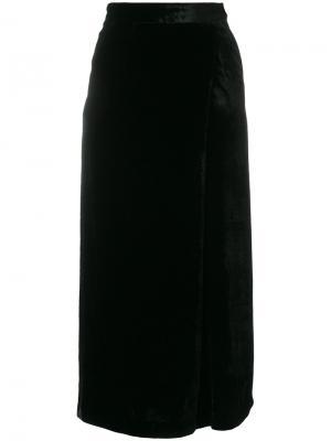 Укороченные бархатные брюки Pt01. Цвет: чёрный