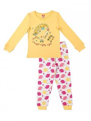 Пижама для девочки Cherubino. Цвет: желтый