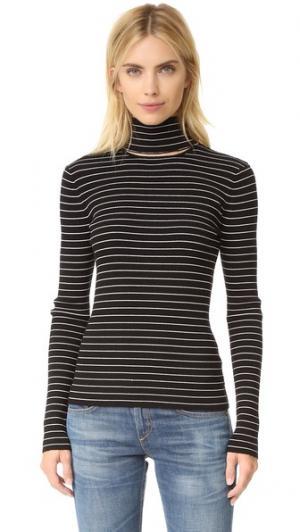 Рубчатый свитер в полоску Lia Tanya Taylor. Цвет: черный/ракушка