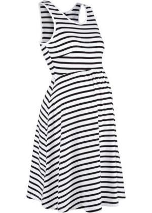 Полосатое платье для беременных (черный/белый в полоску) bonprix. Цвет: черный/белый в полоску