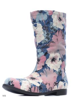 Сапоги AZ-ART. Цвет: темно-синий, розовый