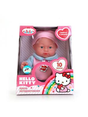 Пупс Карапуз Hello Kitty 24 см с твердым телом, озвученный.. Цвет: розовый,голубой