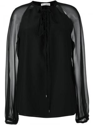 Блузка Benny Altuzarra. Цвет: чёрный