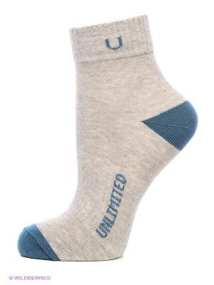 Носки спортивные 5 пар Unlimited. Цвет: серый меланж, зеленый