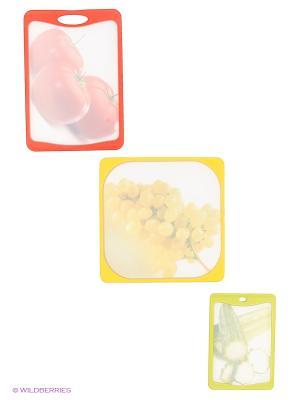 Набор досок разделочных Frybest. Цвет: красный, желтый, салатовый