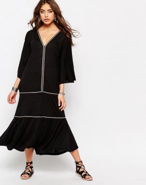 Pitusa Платье в испанском стиле. Цвет: черный
