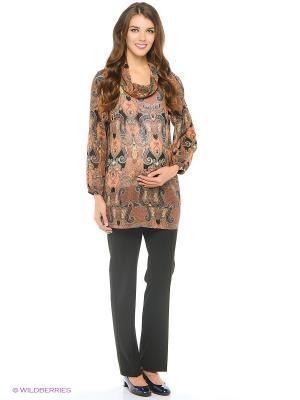 Блузка для беременных impressmama. Цвет: коричневый