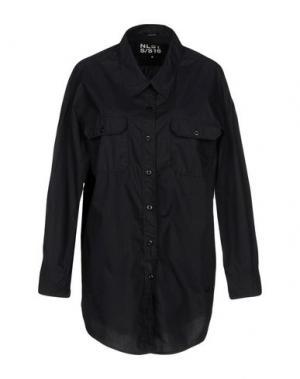 Pубашка NLST. Цвет: черный