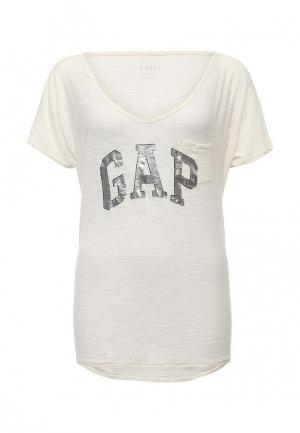 Футболка Gap. Цвет: бежевый