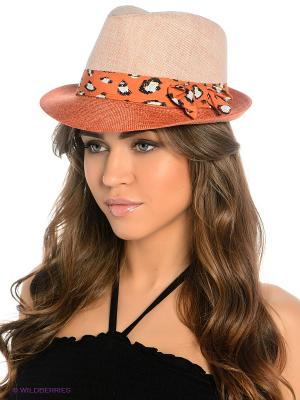 Шляпа Maxval. Цвет: бежевый, терракотовый