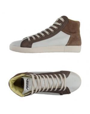 Высокие кеды и кроссовки SPRINGA. Цвет: хаки