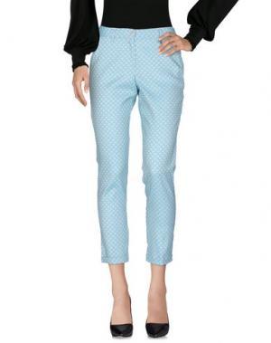 Повседневные брюки BREBIS NOIR. Цвет: светло-зеленый