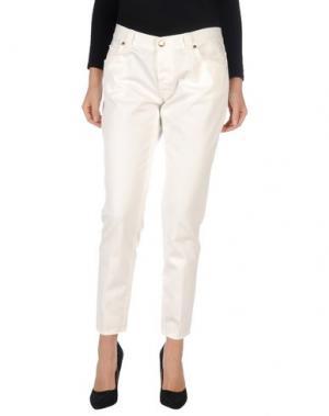 Повседневные брюки (+) PEOPLE. Цвет: белый