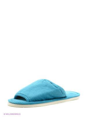 Тапочки домашние Dream time. Цвет: голубой