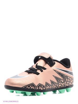 Бутсы JR HYPERVENOM PHADE II (V) FGR Nike. Цвет: черный, розовый