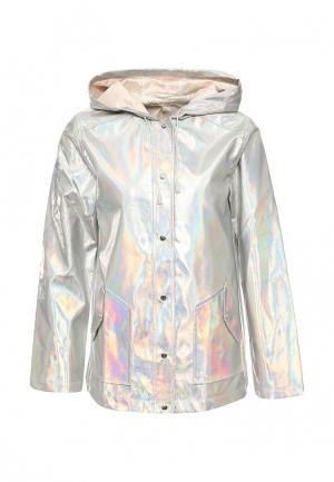 Куртка кожаная Urban Bliss. Цвет: серебряный