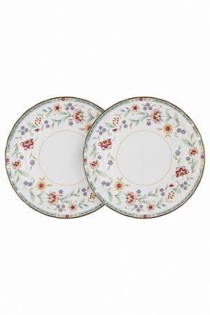 Набор из 2-х обеденных тарелок Colombo. Цвет: белый