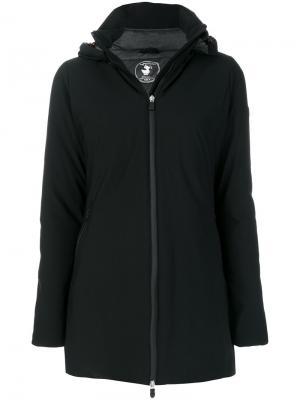 Zipped hooded coat Save The Duck. Цвет: чёрный