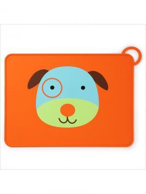 Коврик для столовых приборов Собака SkipHop. Цвет: оранжевый, голубой, зеленый