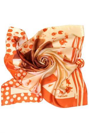 Платок Frantelli. Цвет: белый, оранжевый