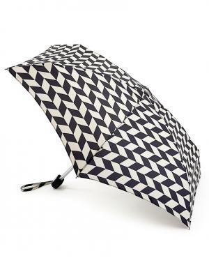 Зонт механический Мозаика  by Fulton Lulu Guinness. Цвет: черный