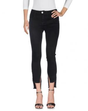 Джинсовые брюки GIORGIA & JOHNS. Цвет: черный
