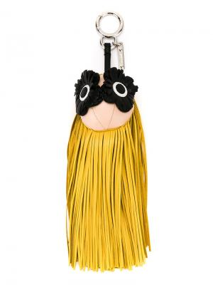 Брелок с подвеской бахромой Fendi. Цвет: жёлтый и оранжевый