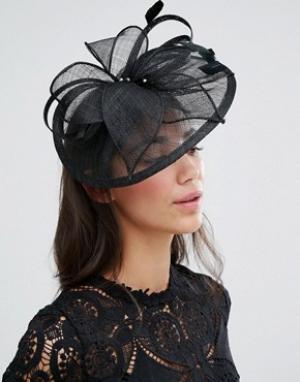 Elegance Вуалетка с перьевой отделкой Boardmans. Цвет: черный