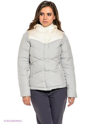 Куртка The North Face. Цвет: бежевый, серый