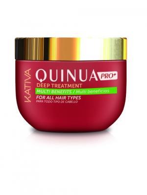 Интенсивный уход Защита цвета KATIVA для всех типов волос QUINUA 500 мл. Цвет: красный