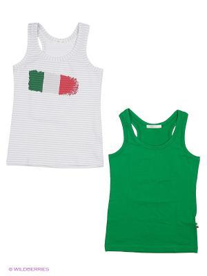 Набор из 2 маек Ritta Romani. Цвет: белый, зеленый