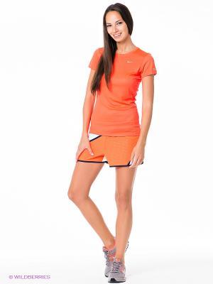 Шорты TWISTED TEMPO SHORT Nike. Цвет: оранжевый