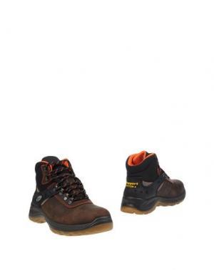 Полусапоги и высокие ботинки GRISPORT. Цвет: темно-коричневый