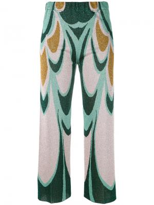 Knitted cropped trousers Circus Hotel. Цвет: многоцветный