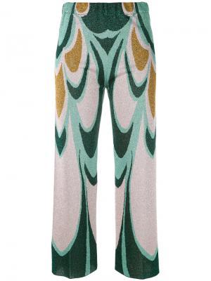 Укороченные трикотажные брюки Circus Hotel. Цвет: многоцветный