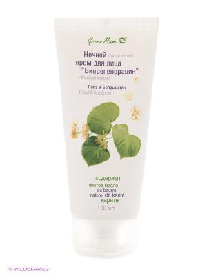 Ночной крем для лица Биорегенерация Липа и боярышник Green mama. Цвет: белый