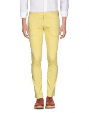 Повседневные брюки MASSIMO BRUNELLI. Цвет: желтый